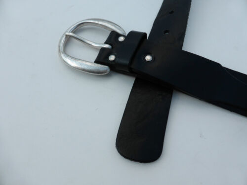LEDER Designer  Gürtel für Jeans Schwarz Unisex-  MEGA PREIS !! NEU