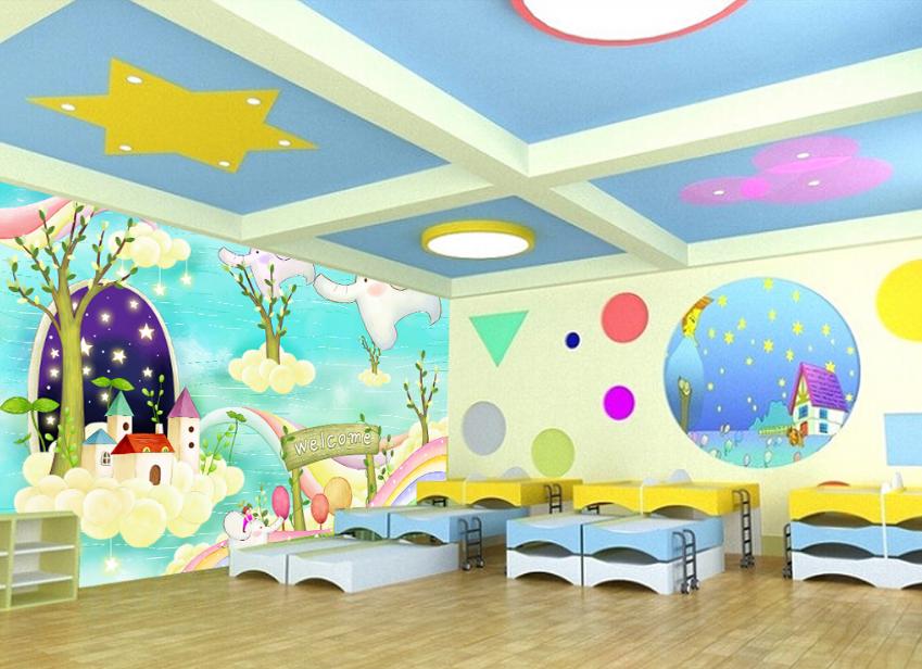 3D Fliegende Elefanten Hütte 8 Tapete Wandgemälde Tapete Tapeten Bild Familie DE