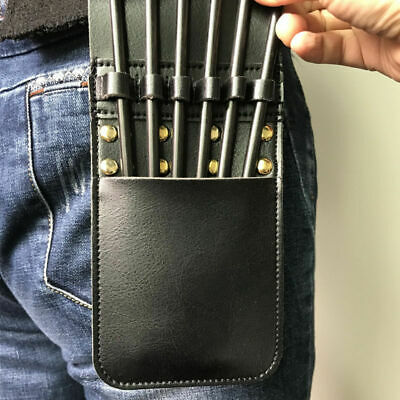 Hunting Leather Arrow Quiver Archery Arrow Holder Waist Belt Bag Pouch