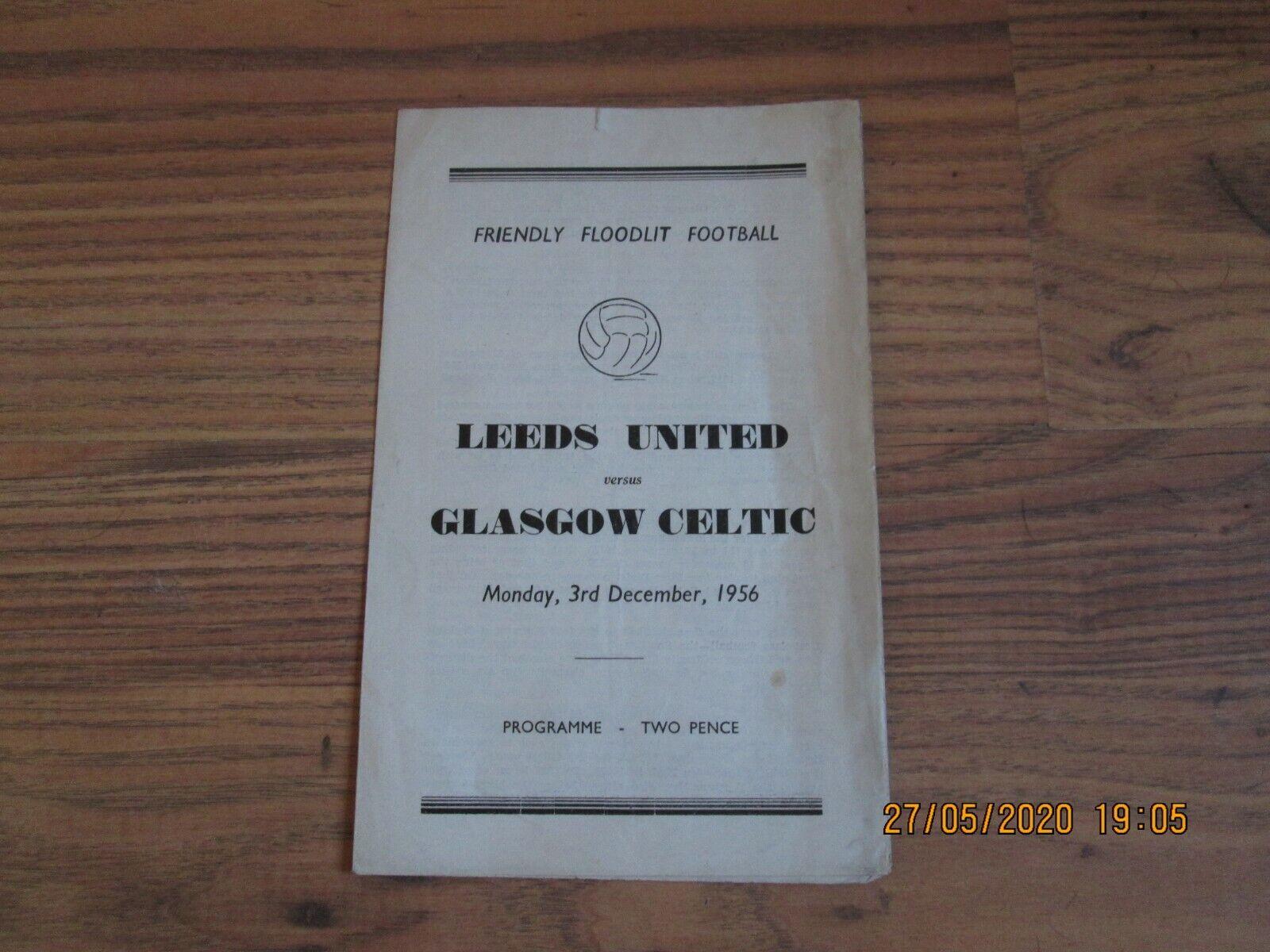Image 1 - 1956/7 LEEDS UNITED v CELTIC (FLOODLIT FRIENDLY)