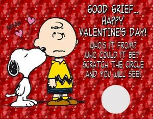 Image Is Loading Charlie Brown Snoopy Valentine 039 S Day Scratch