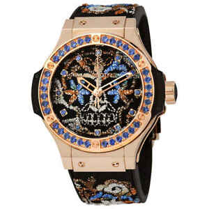 Hublot Big Bang Broderie Sugar Skull Gold Automatic Men's Limited Edition Watch
