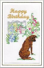 Rhodesian Ridgeback Birthday Card Embroidered by Dogmania  FREE PERSONALISATION