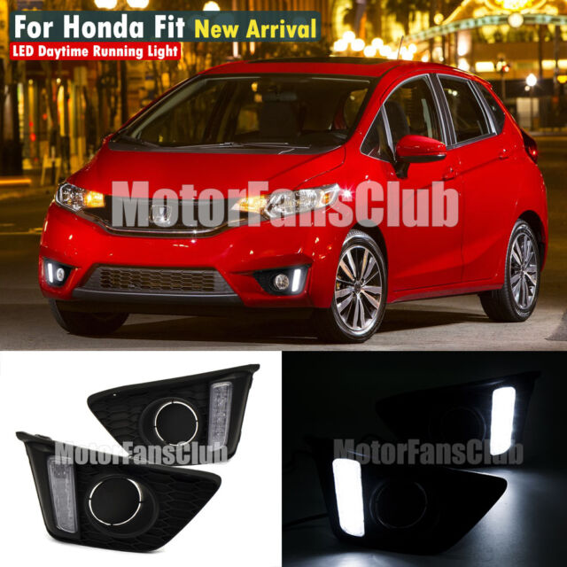 New LED Daytime Running Light For Honda FIT JAZZ DRL Fog Lamp 2014 2015