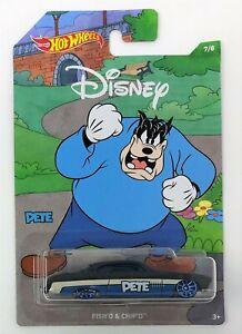 Hot Wheels Mickey Mouse pescado podría y Chip se Pete 7 de 8 Diecast Vehículo Coche de juguete