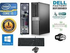 Lot 2 Dell 790 Desktop Computer Intel Core i5 Windows 10 hp 64 500gb HD 4gb Ram