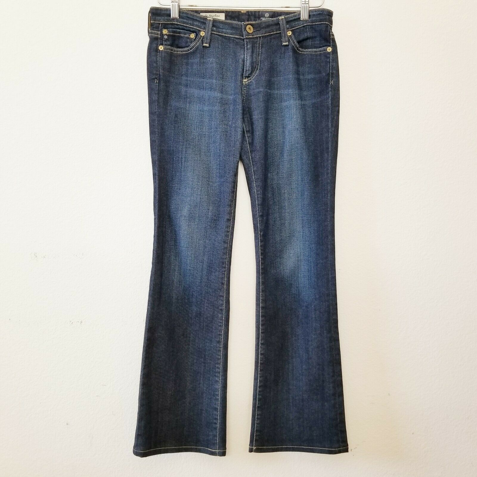 AG Adriano goldschmied The Angelina Petite  Boot Cut Jeans Size 28