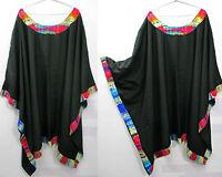 Lagenlook Kaftan Beach Hippie Dress Angel sleeve Size 20 22 24 26 28 30 32 34 b