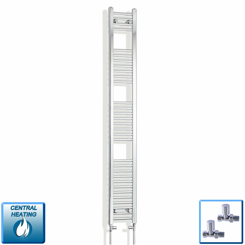 250 mm LARGE 1800 mm haute Droite Chrome Sèche-Serviettes Radiateur Salle de bains Rad