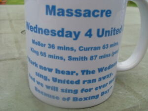 Sheffield Wednesday Boxing Day Massacre tribute mug new Christmas Birthday Gift