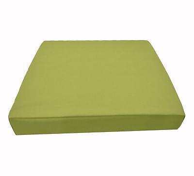 Mf41t Light Moss Green Microfiber Velvet 3D Box Seat Cushion Cover Custom size