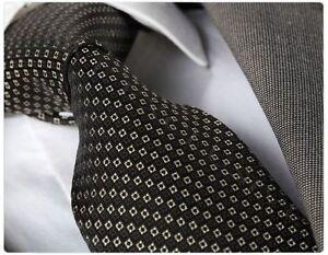 Celino woven jet black with white squares necktie Tie Turkey free shipping box