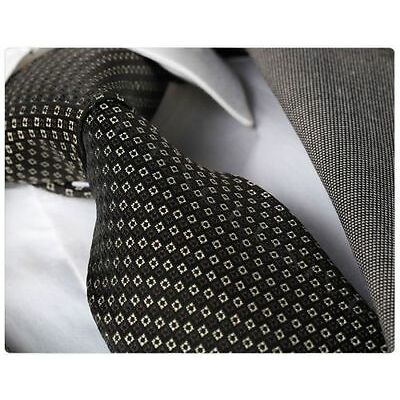 Celino woven jet black with white squares necktie Turkey free shipping with box