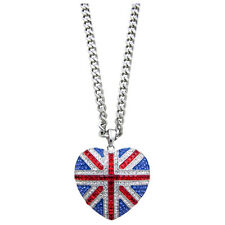 Butler and Wilson Union Jack Large Heart Necklace NEW BLACK FRIDAY RRP £78