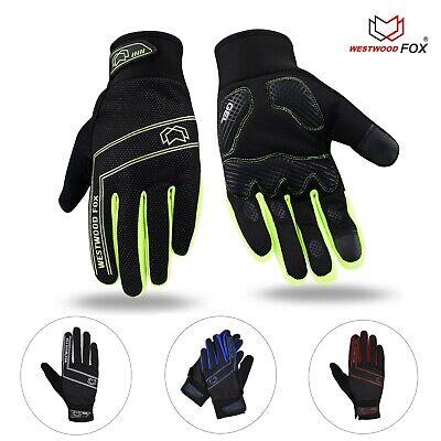 WFX Cycling Gloves Light weight Running Touchscreen  Full Finger Biking Gloves