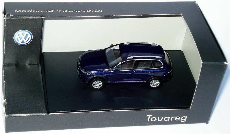 VW TOUAREG 7P 3.0 V6 TDI 2010 2010 2010 Facelift nuit bleu 1:87 Wiking (concessionnaire modèle) | Doux Et Léger  81e615