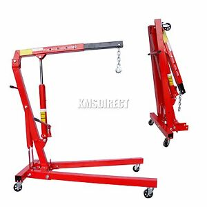 New-Hydraulic-Folding-Engine-Crane-Stand-Hoist-lift-Jack-With-Wheels-1-Ton-Tonne
