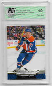 Connor-McDavid-2015-16-Upper-Deck-Collection-CM-24-Rookie-Card-PGI-10-Oilers