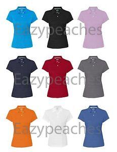 ADIDAS-GOLF-Ladies-S-2XL-CLIMALITE-Mesh-Texture-Dri-fit-Womens-Polo-Sport-Shirts