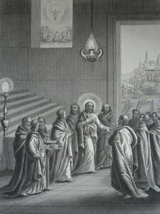 Jesus-Christ-Console-Ses-Apostles-Gravure-of-1863