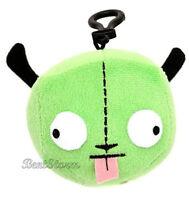 Green Alien Invader Zim Robot Gir In Disguise Dog Ears Head Plush Clip On