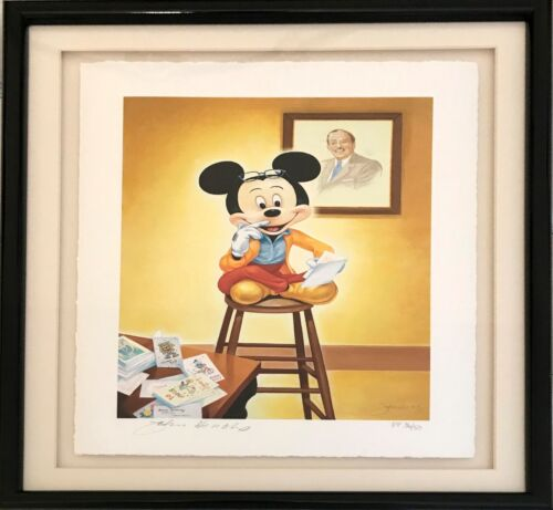 """Mickey's Official 70th Birthday Portrait"" Lmt Ed Publisher's Proof 3650Signed"