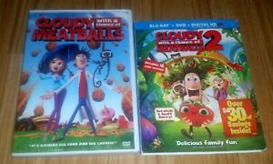 DVD Lot of 2: Cloudy with a Chance of Meatballs 1 & 2