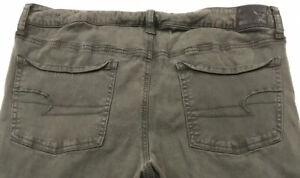 American-Eagle-Jegging-Green-Jeans-Super-Stretch-Womens-Size-14-Regular