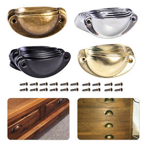 10Pcs-Antique-Shell-Pull-Handle-Drawer-Cabinet-Furniture-Kitchen-Cupboard-Door