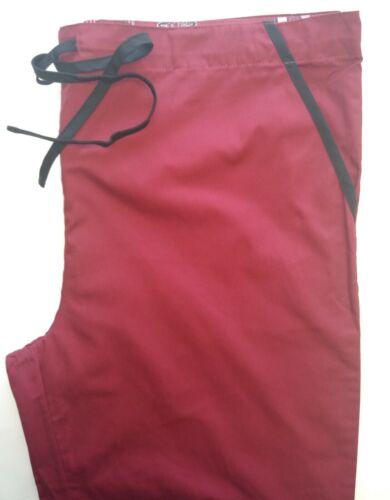 Scrubs Dudz UNIVSERSITY OF ARKANSAS  3-pkt drawstring-waist scrub pants-Maroon