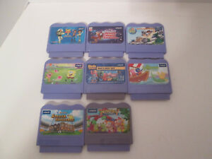 Vtech-Vsmile-8-Different-Video-Games-Cartridges-Lot-Toy-Story-Mickey-Bob-Builder