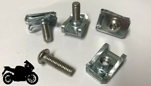 10x-Panel-Fasteners-M6-C-Clips-Spire-Clip-amp-Stainless-Bolts-Motorbike-Fairing