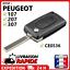 Coque-cle-plip-pour-Peugeot-107-207-307-407-807-CE0536-2-boutons-clef-boitier miniatuur 1