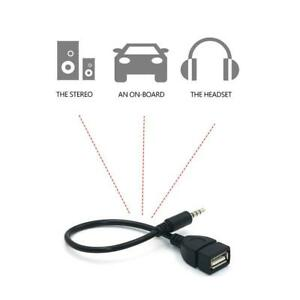 3.5mm Male Audio Jack to USB 2.0 Type A Female OTG Converter Adapter Cable