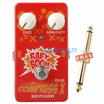 Biyang Baby Boom CO-10 Compress X Compressor Guitar Effect Pedal True Bypass NEW