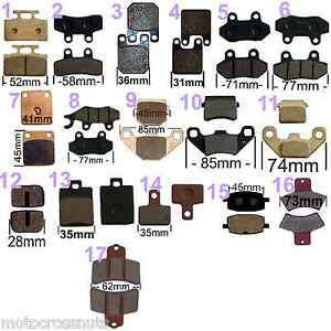 BRAKE-PADS-Chinese-Quad-Buggy-Pit-Dirt-bike-Go-kart-front-rear-caliper-Disc-pads