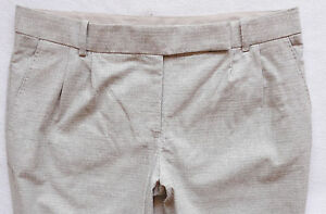 BNWT-NEXT-Grey-work-office-cotton-tapered-stretch-leg-trousers-ankle-grazers
