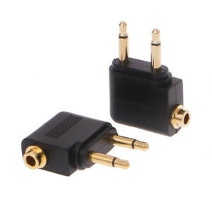 3-5mm-Jack-Audio-Adapter-for-Airline-Airplane-Travel-Earphone-Headphone-Part-MWC