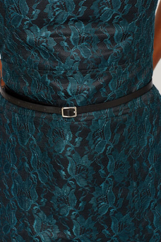 59 Large 99 Incl Overlay Rrp € Green Dark Joy Dress Size Party Belt Black 588 Cocktail Lace Vila O6vRqR