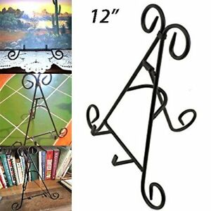 Image is loading 12-034-Black-Iron-Display-Stand-Book-Tower-  sc 1 st  eBay & 12