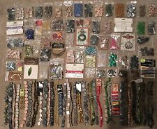 Huge Lot of 108 NEW strands and bags of beads and findings JEWELRY