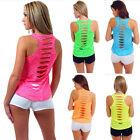 Women Summer Vest Top Sleeveless Shirt Blouse Cotton Casual Tank Tops T-Shirt