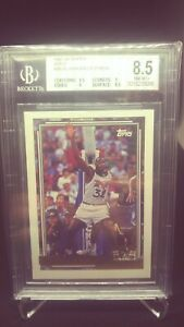 1992-Topps-Gold-Shaquille-O-039-Neal-RC-Rookie-BGS-8-5-PSA-9