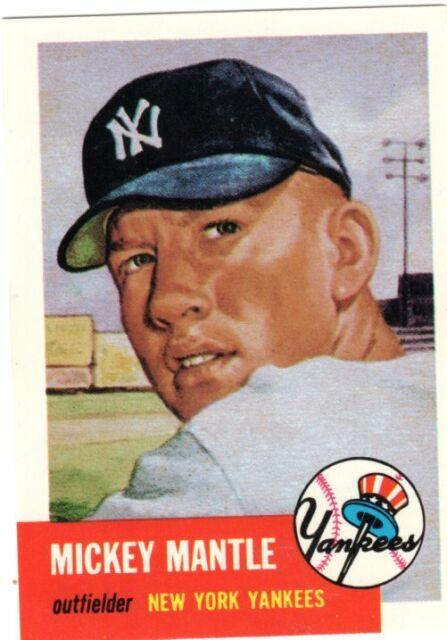 1953 Topps Mickey Mantle 82 Baseball Card