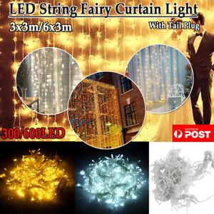 300-880-LED-Curtain-Fairy-Lights-Wedding-Indoor-Outdoor-Christmas-Garden-Party