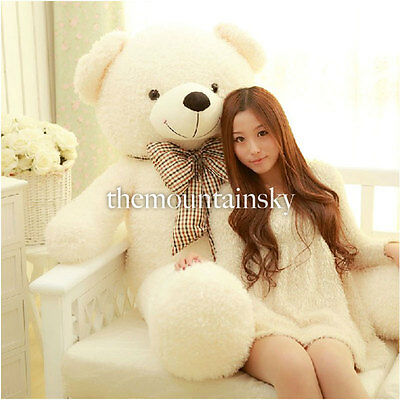 Teddy Bear Huge 80CM Giant Big Cute Plush Stuffed Soft 100% Cotton Toy Best Gift