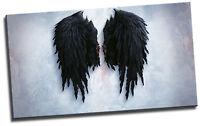 Banksy Black Angel Wings Canvas Picture Art