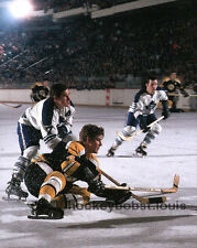#4 Bobby ORR CHECKED by Tim HORTON Toronto MAPLE Leafs BOSTON Bruins 8X10 NEW !!