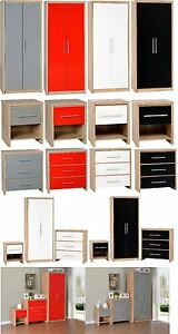 Image Is Loading SEVILLE BEDROOM FURNITURE SET  WARDROBE CHEST BEDSIDE DIFFERENT