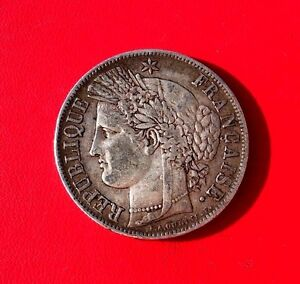 RARE-MONNAIE-EN-ARGENT-5F-ECU-CERES-1850-K-BORDEAUX